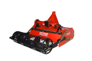 Compact tractor stone burier