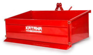 Tipping transport box for compact tractors