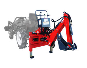 Compact backhoe for mini tractor