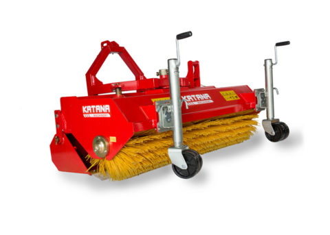 Sweeper for compact tractor