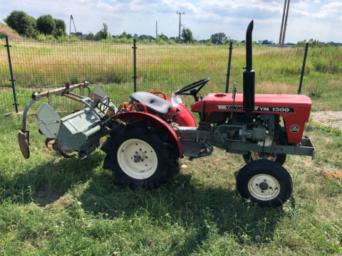 Yanmar small tractor with rotary tiller