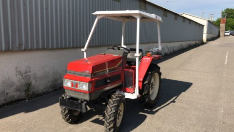Yanmar compact tractor with rotavator