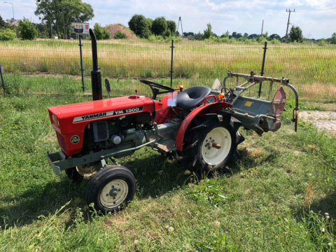 Yanmar tractor with rotavator