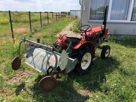 Small tractor with rotavator