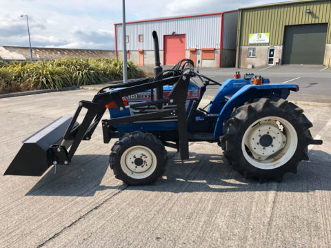 Solid Iseki compact tractor with power steering and front loader