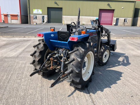 Iseki compact tractor with 3-point linkage and rear PTO