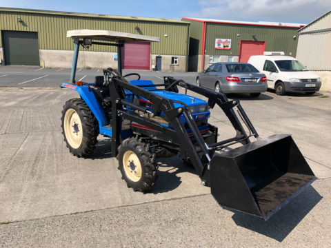 Compact tractor with front-end loader