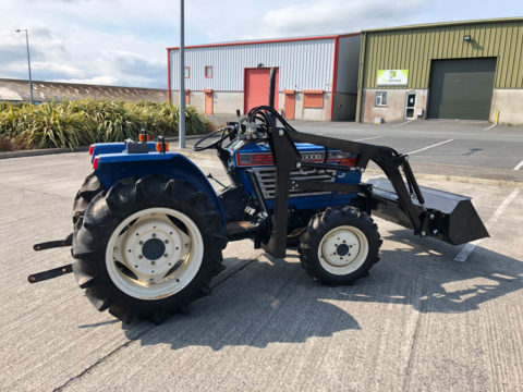 Iseki compact tractor with loader